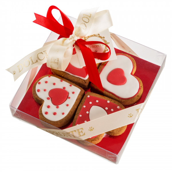 Dolcimpronte - Four Love in Red - Confezione 4 Biscotti - 104 gr ( ASL Prot.0088901/16)