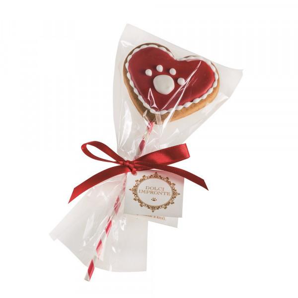 Dolci Impronte - red paw lollipop gr 40