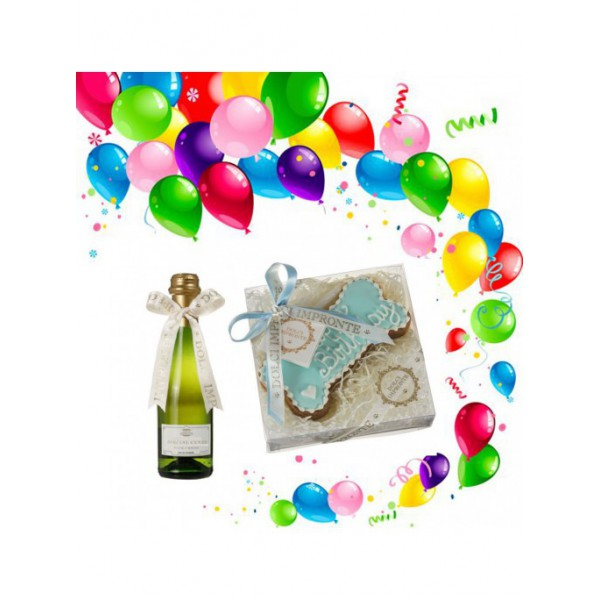 Dolci Impronte® - Birthday Set - Blue Bone Cake and Special Cuvee