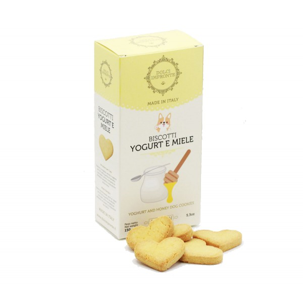 Dolci Impronte® - Pack of 4 Boxes 150 gr Flavored Biscuits Yogurt Honey